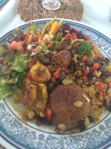A medley of vegan cuisine at Vegan Cottage